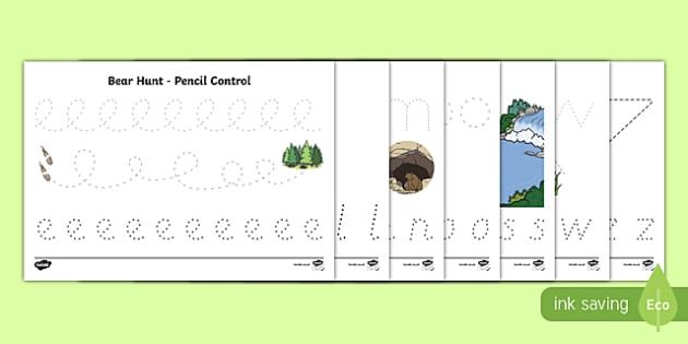 Pencil Control Activity Sheet Pack, worksheet
