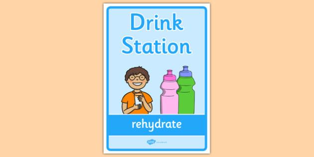 Drink Station Display Poster - drink station, display banner, display, banner, drink, station