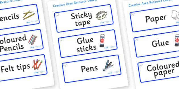 Polar Bear Themed Editable Creative Area Resource Labels - Themed creative resource labels, Label template, Resource Label, Name Labels, Editable Labels, Drawer Labels, KS1 Labels, Foundation Labels, Foundation Stage Labels
