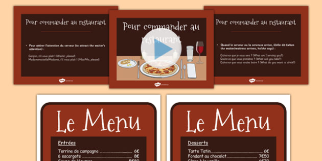 Apprendre à commander au restaurant - french, Apprendre, commander, au restaurant, language