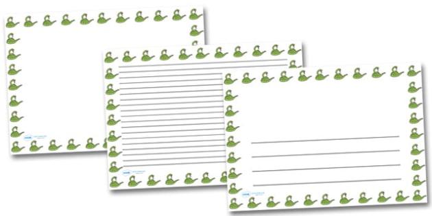 Snake Landscape Page Borders- Landscape Page Borders - Page border, border, writing template, writing aid, writing frame, a4 border, template, templates, landscape