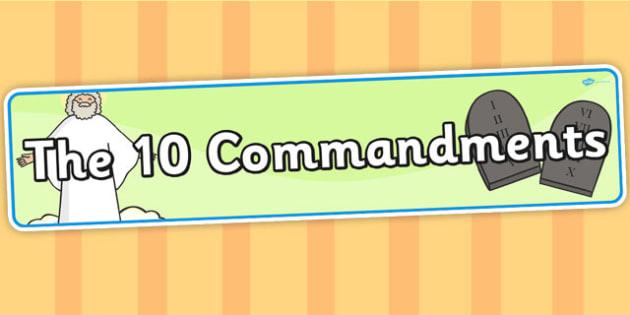The 10 Commandments Display Banner - 10 commandments, display
