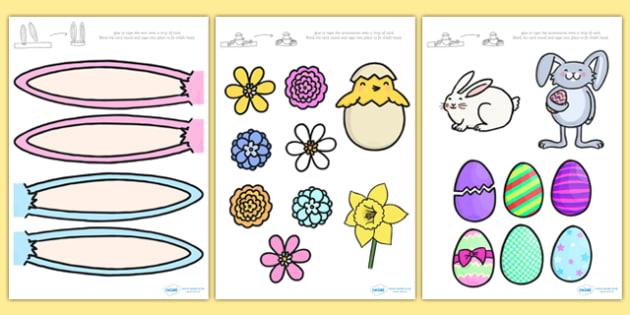 Make an Easter Bonnet Accessories - make an easter bonnet, easter bonnet, easter bonnet accessories, easter headband, easter key images, easter images, easter images for bonnet, cut out easter images cut-out easter images, cut out easter bonnet acces