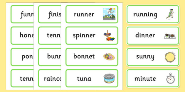 Medial 'n' Word Cards - speech sounds, phonology, articulation, speech therapy, dyspraxia