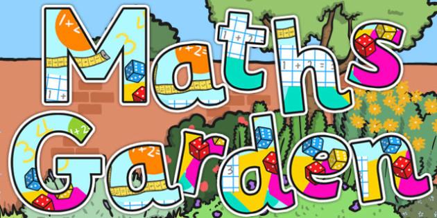 Maths Garden Display Lettering - maths, garden, display, letters