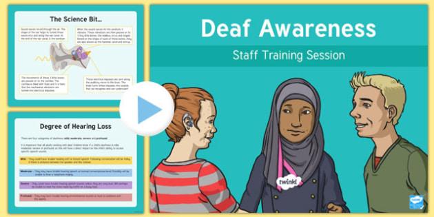Deaf Awareness Staff Training PowerPoint-Scottish
