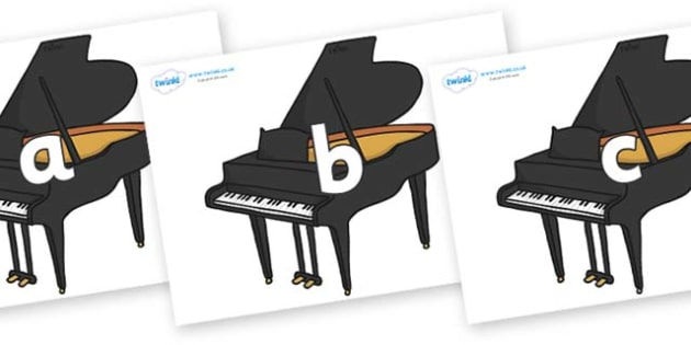 Phase 2 Phonemes on Baby Grand Pianos - Phonemes, phoneme, Phase 2, Phase two, Foundation, Literacy, Letters and Sounds, DfES, display