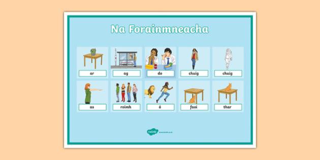 Réamhfhocail Display Posters-Irish