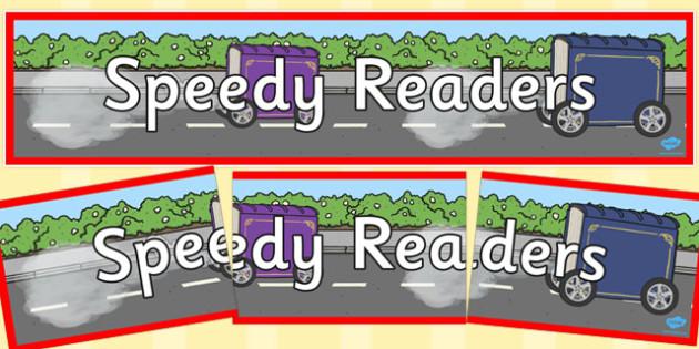 Speedy Readers Display Banner - speedy readers, display banner, display