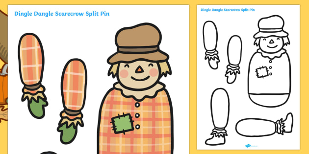 Scarecrow Split Pin - scarecrow, split pin, scarecrow activites, cutting activities, cutting games, creative, design, art, wet play, puppets, dolls