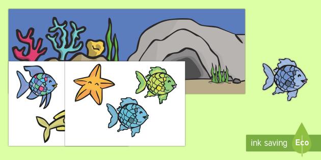 El pez arcoiris Imágenes de exposición