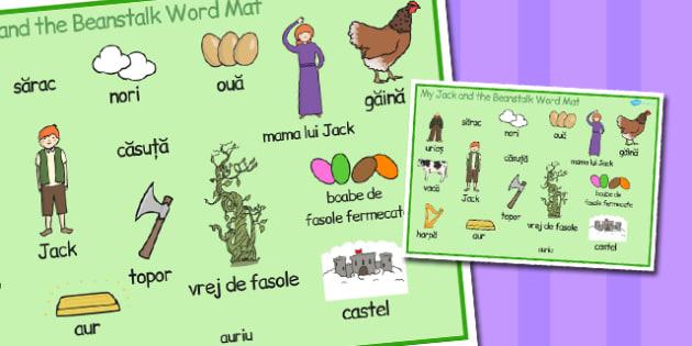 Jack și vrejul de fasole - Planșă cu imagini și cuvinte