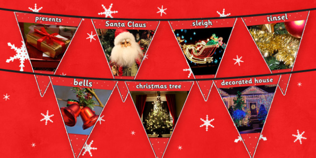 Christmas Photo Bunting - photos, banners, banner, displays