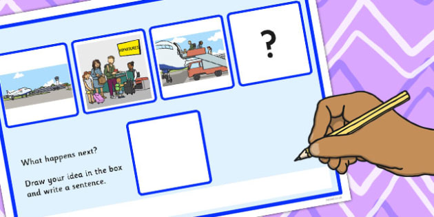 What Happens Next? Fill in the Blank Worksheet for 'Going on Holiday' - happens, next, holiday