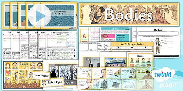 PlanIt - Art LKS2 - Bodies Unit Pack - planit, art, bodies, unit pack