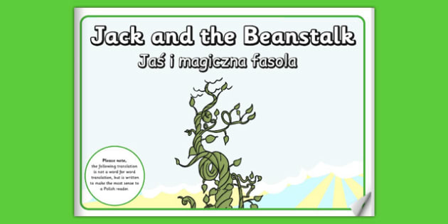 Jack and the Beanstalk eBook Polish Translation - polish, books, interactive books, read
