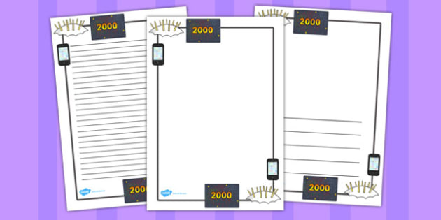 Millennium Page Borders - millennium, page borders, page, borders