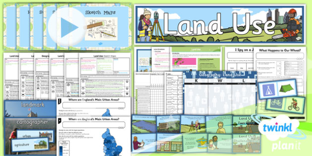 PlanIt - Geography Year 3 - Land Use Unit Pack - planit, land use