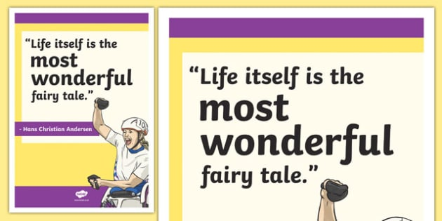 Hans Christian Anderson Inspirational Classroom Quote Display Poster - usa, america, hans christian anderson, inspirational, quote, display, poster