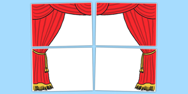 Stage Curtains 4xA3 - stage, curtains, 4xA3, stage curtains, cut outs, drama, performance, display