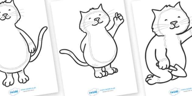 Colouring Sheets to Support Teaching on Jasper's Beanstalk - Jasper, Jasper's Beanstalk, bean, sprayed, watered, slugs, colouring, fine motor skills, poster, worksheet, vines, A4, display,  rake, found, beanstalk, planted, cat, dig, plant, waiting, s
