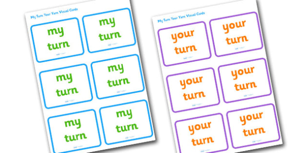 My Turn Your Turn Visual Cards - my turn your turn cards, my turn cards, your turn cards, turn taking cards, turn taking, taking turns, taking turns cards