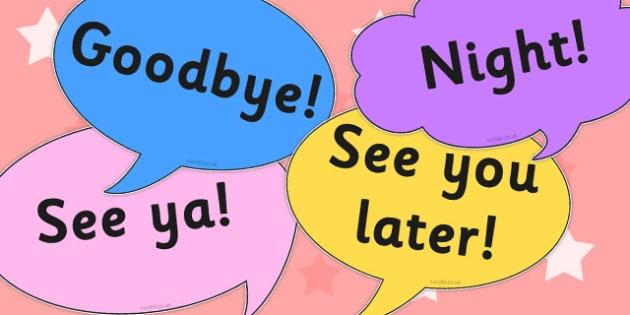 Goodbye Prompt Cards - goodbye, prompt, cards, social, skills