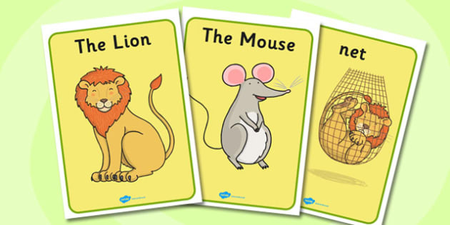 The Lion And The Mouse Display Posters - display poster, poster