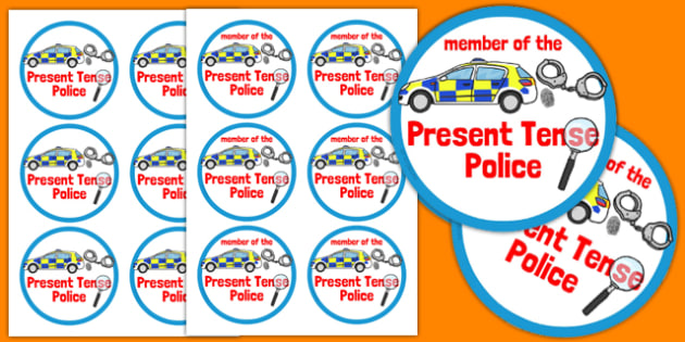 Present Tense Police Badges - present tense, police badges, activity
