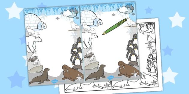 Polar Animals Editable Note - polar, editable, note, animals