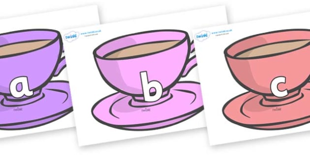Phase 2 Phonemes on Cups - Phonemes, phoneme, Phase 2, Phase two, Foundation, Literacy, Letters and Sounds, DfES, display