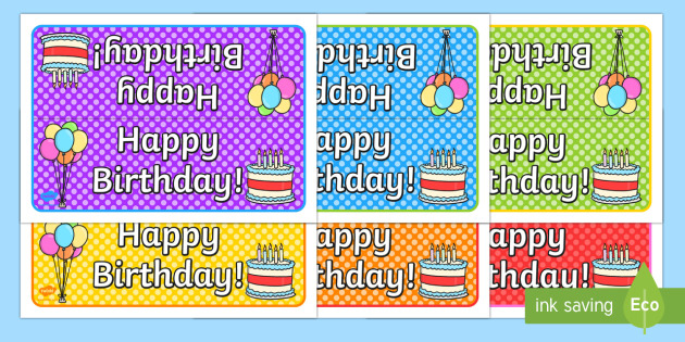 Happy Birthday Foldable Tabletop Sign - birthday, happy birthday, tabletop signs, foldable signs, birthday signs, class management, behaviour management