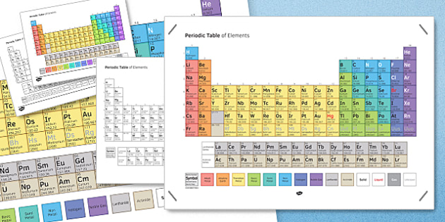 Periodic Table of Elements Poster - periodic table, poster, element, periodic