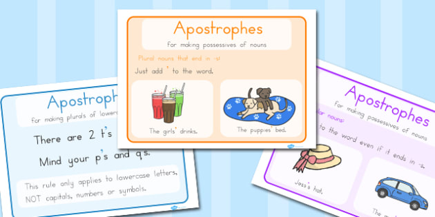 Apostrophe Rules Display Posters - poster, displays, punctuation