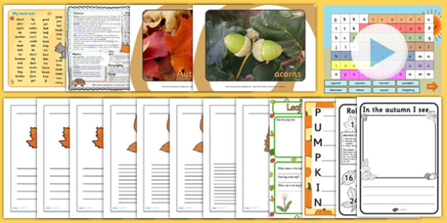 KS1 Autumn Teaching Resource Pack - ks1, autumn, pack, resources