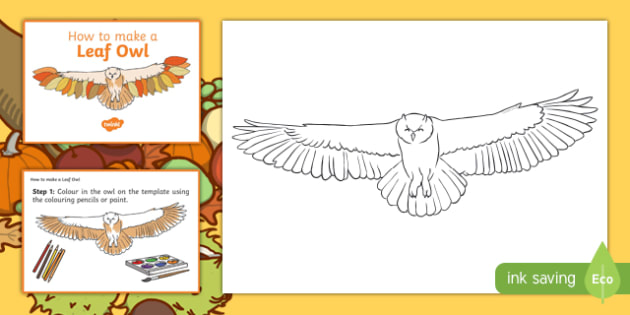 Leaf Owl Craft Instructions