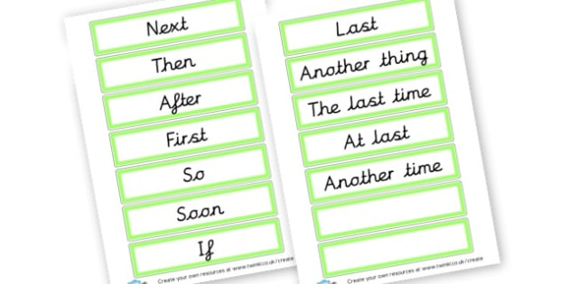 Level 2 Opener Word Cards - VCOP Primary Resources, Vocabulary, Connectives, Openers