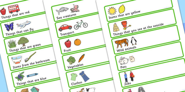 Add 3 More To The Category Activity - sorting, matching, SEN