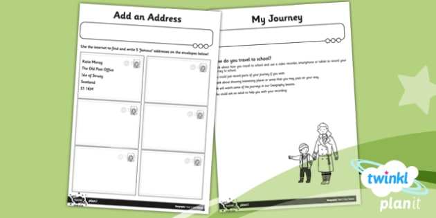 PlanIt Geography Year 1 Our School Unit Home Learning Tasks