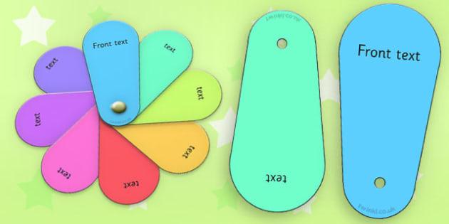 Editable Fan Cards Colour - editable fan, cards, colour, fan