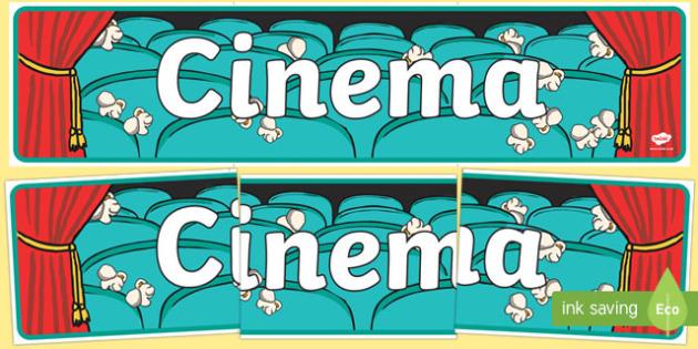 Cinema Role Play Display Banner - Cinema, Film, movie, Role play, play, banner, display, sign, poster,  popcorn, ticket, flick, love, drama, action, genres