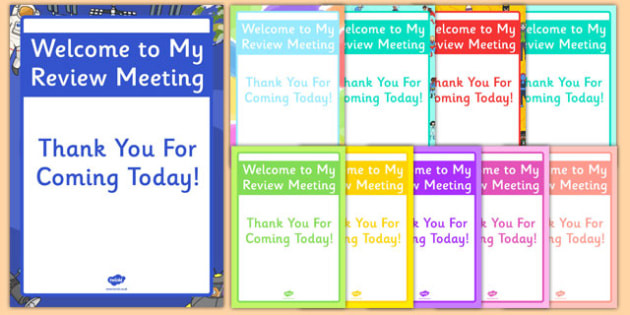 Welcome to My Meeting Poster - welcome, my meeting, poster, display