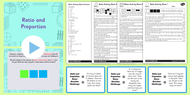 Year 6 Ratio and Proportion Task Setter Powerpoint Activity Pack