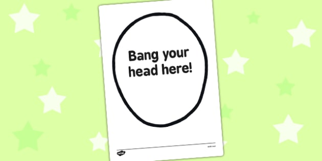 Bang Your Head Here Funny Staff Room Sign - bang, head, here, staff room