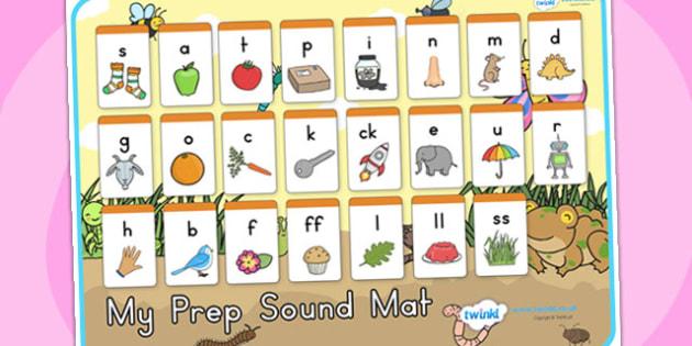 Minibeasts Cute Prep Sound Mat - sounds, sounds mat, prep sounds