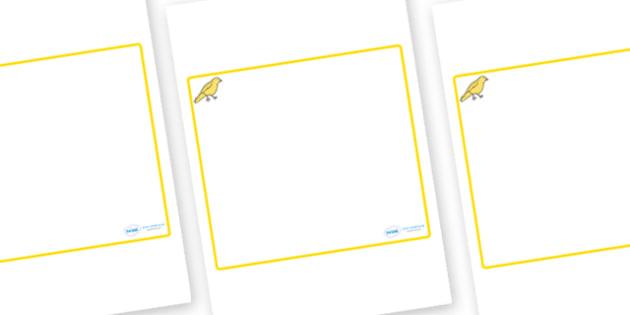 Canary Themed Editable Classroom Area Display Sign - Themed Classroom Area Signs, KS1, Banner, Foundation Stage Area Signs, Classroom labels, Area labels, Area Signs, Classroom Areas, Poster, Display, Areas