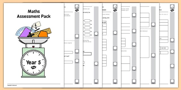 Year 5 Maths Assessment Pack Term 2 - Maths, Assessment, Year 5, pack, term 2