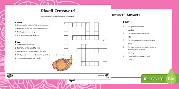Diwali Crossword