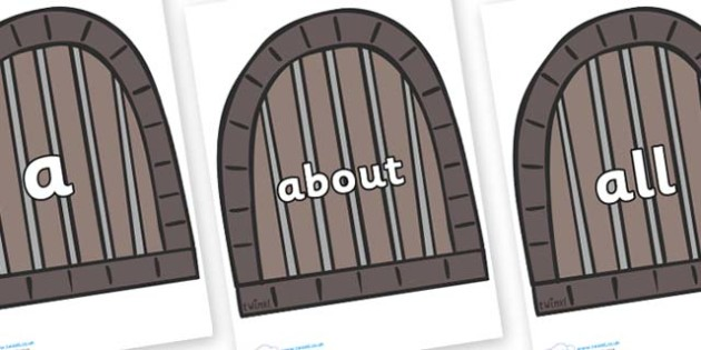 100 High Frequency Words on Jail Cells - High frequency words, hfw, DfES Letters and Sounds, Letters and Sounds, display words