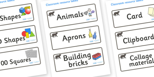 Panther Themed Editable Classroom Resource Labels - Themed Label template, Resource Label, Name Labels, Editable Labels, Drawer Labels, KS1 Labels, Foundation Labels, Foundation Stage Labels, Teaching Labels, Resource Labels, Tray Labels, Printable l